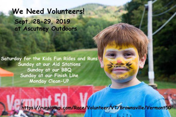 Vt50 Needs Volunteers